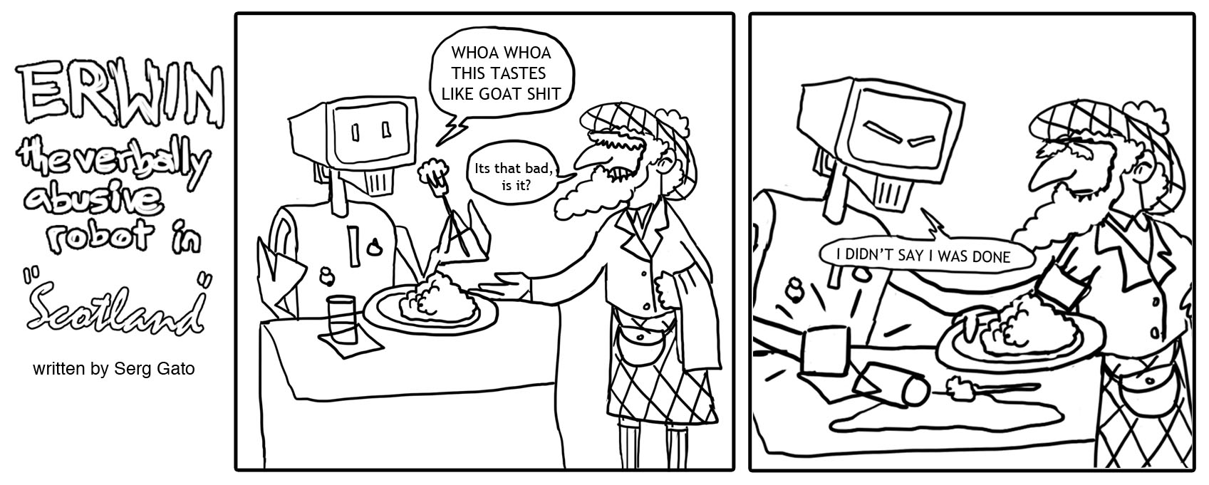Erwin the verbally abusive robot in Scotland